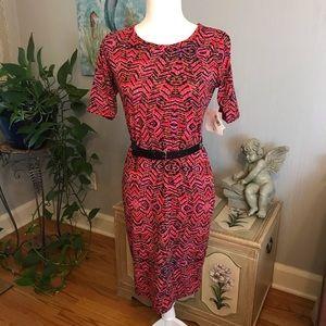 NWT LuLaRoe Julia Abstract Tribal Print Dress Sz S